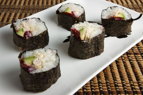 Turkey and Cranberry Sushi (Closet Cooking)